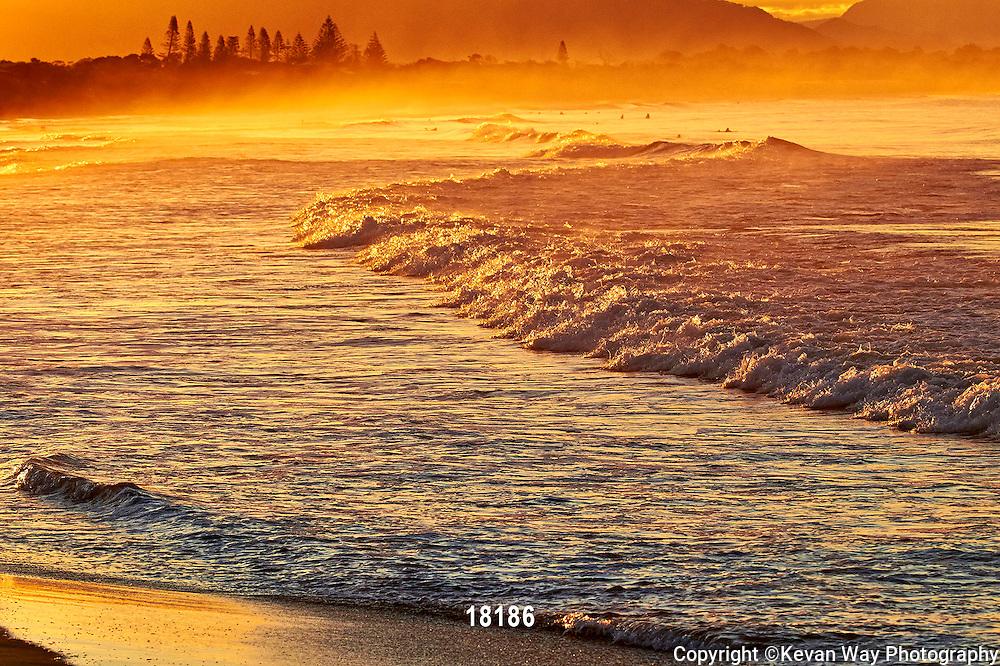 sunset shorebreak