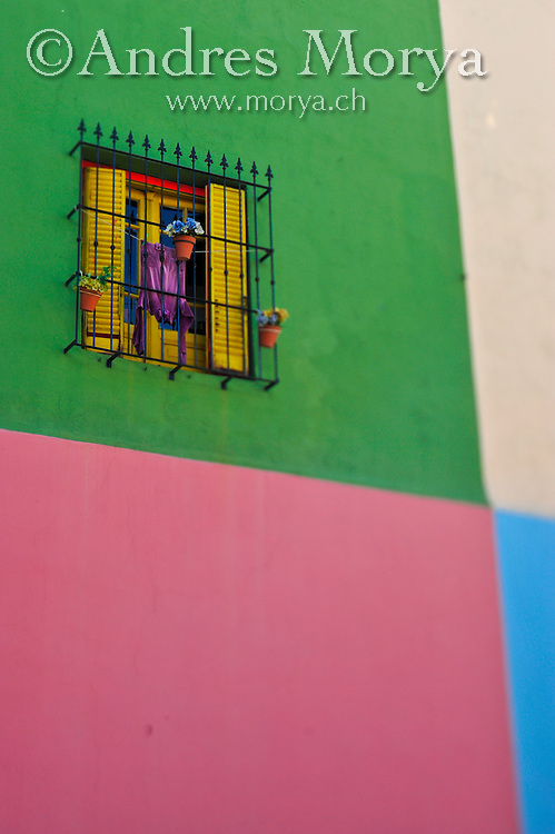 Street Scene and details at Caminito , La Boca , Buenos Aires , Argentina Image by Andres Morya