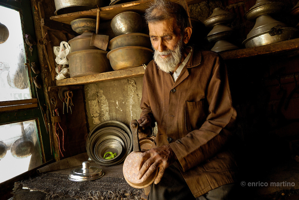 Traditional coppersmith.