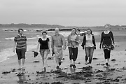 HUTCHISON FAMILY on holiday at RHOSNEIGR.Photo by Howard Barlow