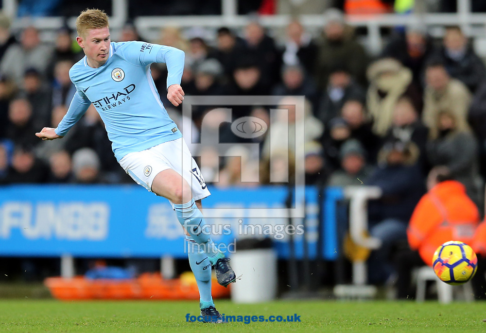 Kevin De Bruyne of Manchester City during the Premier League match at St. James's Park, Newcastle<br /> Picture by Simon Moore/Focus Images Ltd 07807 671782<br /> 27/12/2017