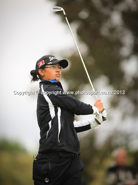 Julianne Alvarez on her way to winning the final of the 2013 New Zealand Amateur Championship, Manawatu Golf Club, Palmerston North, New Zealand. Sunday 26 April 2013. Photo: John Cowpland / photosport.co.nz
