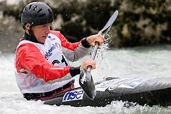 Gregor Brovinsky of Kajak klub Soske elektrarne competes in the Men's Kayak K-1 at kayak & canoe slalom race on May 9, 2010 in Tacen, Ljubljana, Slovenia. (Photo by Vid Ponikvar / Sportida)