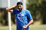 Harbhajan Singh during the Mumbai Indians training ( nets ) session held at The Wanderers Stadium in Johannesburg on the 6th September 2010 held as part of the build up to the Champions League T20 tournament being held in South Africa between the 10th and 26th September 2010..Photo by: Ron Gaunt/SPORTZPICS/CLT20