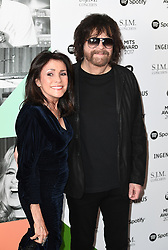 Jeff Lynne frmo ELO with partner Camelia Kath arriving for the 26th Annual Music Industry Trusts Awards held at the Grosvenor House Hotel, London. Picture credit should read: Doug Peters/Empics Entertainment