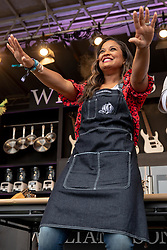 May 25, 2018 - Napa, California, U.S - Boxer and chef LAILA ALI during BottleRock Music Festival at Napa Valley Expo in Napa, California (Credit Image: © Daniel DeSlover via ZUMA Wire)