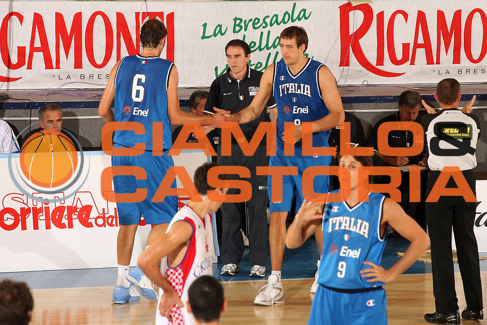 DESCRIZIONE : Bormio Torneo Internazionale Gianatti Finale Italia Croazia <br /> GIOCATORE : Carlo Recalcati Giacomo Galanda Denis Marconato<br /> SQUADRA : Nazionale Italia Uomini <br /> EVENTO : Bormio Torneo Internazionale Gianatti <br /> GARA : Italia Croazia<br /> DATA : 04/08/2007 <br /> CATEGORIA : Ritratto<br /> SPORT : Pallacanestro <br /> AUTORE : Agenzia Ciamillo-Castoria/G.Cottini