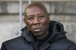 October 29, 2017 - Tubize, BELGIUM - Tubize's head coach Sadio Demba pictured during a soccer game between AFC Tubize and Cercle Brugge, in Tubize, Sunday 29 October 2017, on day 13 of the division 1B Proximus League competition of the Belgian soccer championship. BELGA PHOTO LAURIE DIEFFEMBACQ (Credit Image: © Laurie Dieffembacq/Belga via ZUMA Press)