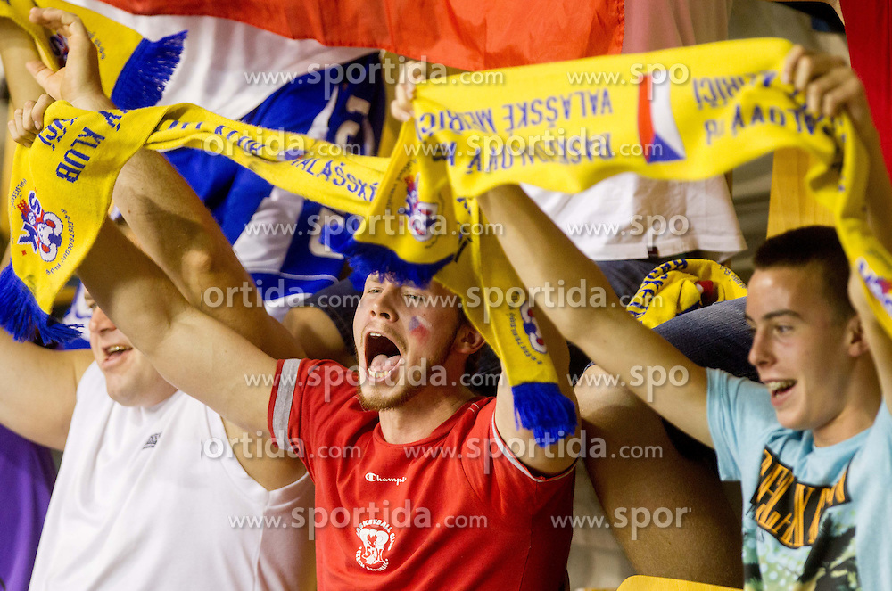 Fans during basketball match between National teams of Spain and Czech Republic in Round 1 at Day 4 of Eurobasket 2013 on September 7, 2013 in Arena Zlatorog, Celje, Slovenia. (Photo by Vid Ponikvar / Sportida.com)