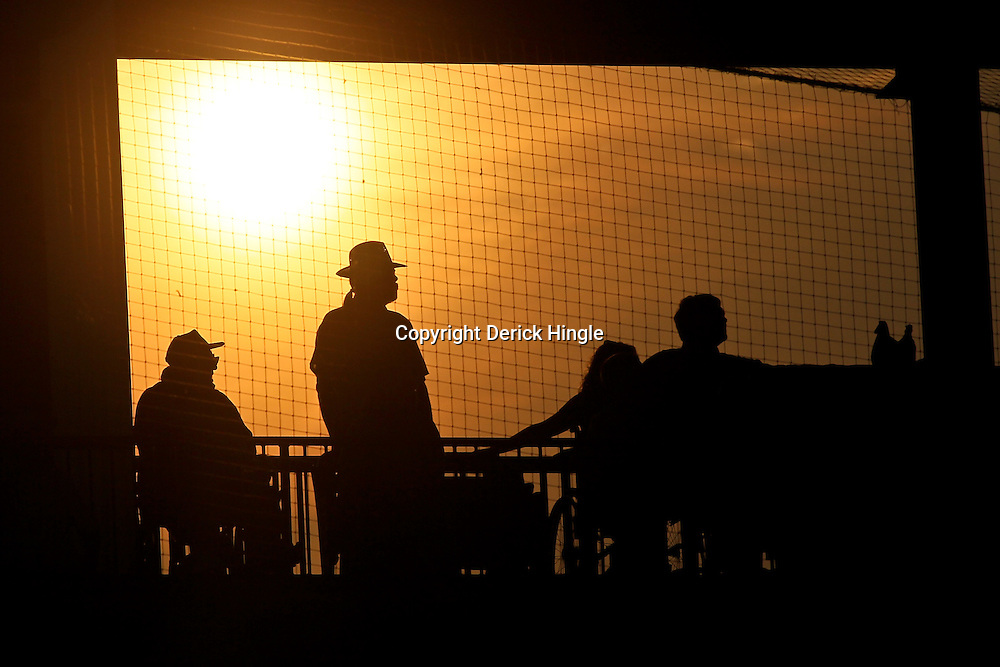 June 03, 2011; Tallahassee, FL, USA; The sun sets behind fans watching from the stands during the sixth inning inning of the Tallahassee regional of the 2011 NCAA baseball tournament between Bethume-Cookman Wildcats and the Florida State Seminoles at Dick Howser Stadium. Mandatory Credit: Derick E. Hingle