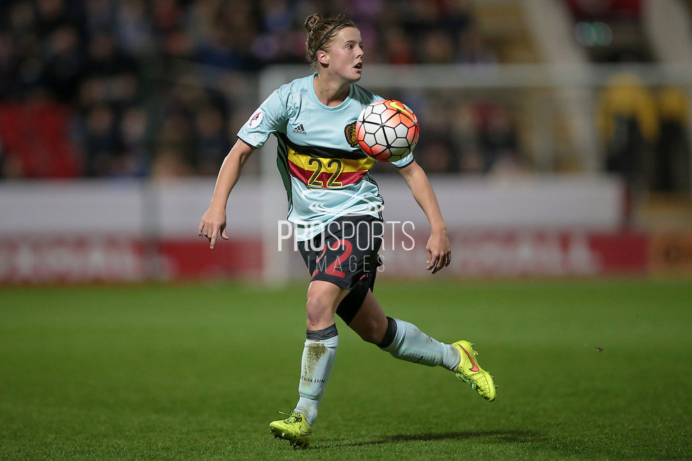 Laura Deloose (Belgium) during the Euro 2017 qualifier between England Ladies and Belgium Ladies at the New York Stadium, Rotherham, England on 8 April 2016. Photo by Mark P Doherty.