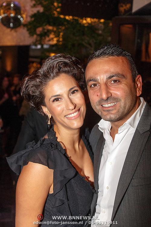 NLD/Amsterdam/20151110 - Life After Football Award 2015, Kristina Bozilovic en partner Tamar Gonen
