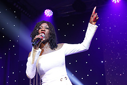 Pictured: Heather Small entertained the audience<br /> <br /> Actress Emma Thomson talked about trafficking and her work with the Helen Bamber Foundation, which she is president of, as she collected a cheque for the charity from the People's Postcode Lottery<br /> <br /> Terry Murden | EEm 23 January 2018