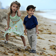 Fort Lauderdale, FL / 2011 - Jo and JP on the beach.  Photo by Mike Roy