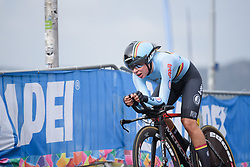 Shari Bossuyt at UCI Road World Championships Junior Women's Individual Time Trial 2017 a 16.1 km time trial in Bergen, Norway on September 18, 2017. (Photo by Sean Robinson/Velofocus)