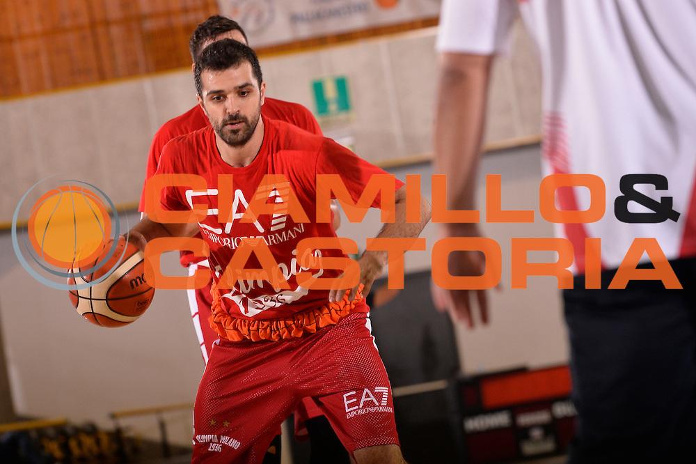 Krunoslav Simon <br /> EA7 Emporio Armani Olimpia Milano allenamento<br /> Lega Basket Serie A 2016/2017<br /> Bormio 03/09/2016<br /> Foto Ciamillo-Castoria