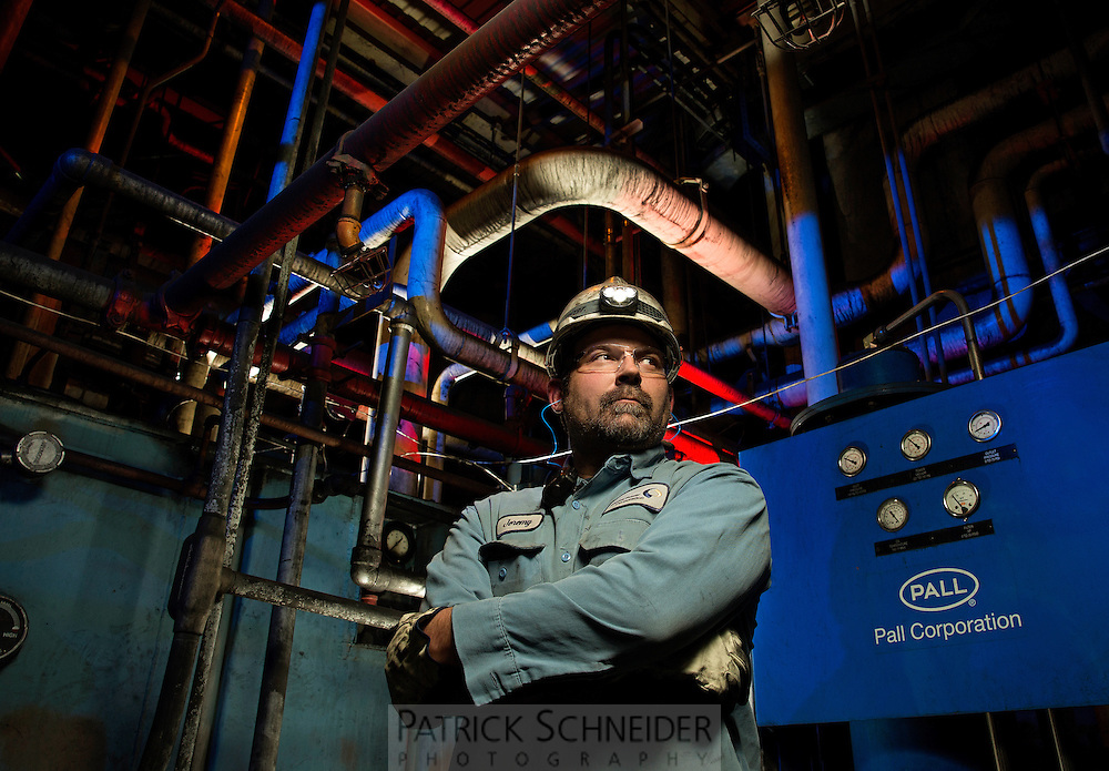 On-location manufacturing and industrial photography. Photography of the Capital Power Southport Power Plant, in Southport, North Carolina.<br /> <br /> Charlotte Photographer - PatrickSchneiderPhoto.com