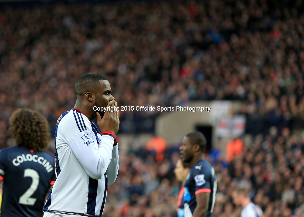 28th December 2015 - Barclays Premier League - West Bromwich Albion v Newcastle United - Victor Anicheebe of West Bromwich Albion reacts after a missed chance - Photo: Paul Roberts / Offside.