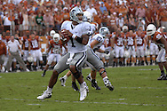 September 29, 2007 - Austin, TX..Quarterback Josh Freeman #1 of the Kansas State Wildcats drops back to pass in the second half against the Texas Longhorns, during a NCAA football game at Darrell Royal-Texas Memorial Stadium on September 29, 2007...FBC:  The Wildcats defeated the Longhorn 41-21.  .Photo by Peter G. Aiken/Cal Sport Media