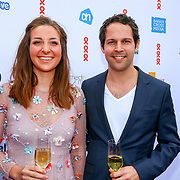 NLD/Amsterdam/20180616 - 26ste AmsterdamDiner 2018, Victor Mids en partner Myrthe ten Hoopen