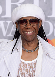 Nile Rodgers attending the Brit Awards 2019 at the O2 Arena, London. Photo credit should read: Doug Peters/EMPICS. EDITORIAL USE ONLY