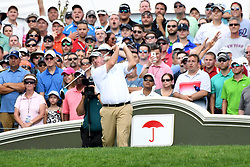 June 25, 2017 - Cromwell, Connecticut, U.S - Boo Weekley tees off the first tee during the final round of the Travelers Championship at TPC River Highlands in Cromwell, Connecticut. (Credit Image: © Brian Ciancio via ZUMA Wire)