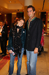 FRANCESCA VERSACE and FRITZ VON WESTENHOLTZ at a party hosted by Burberry to launch their special collection in aid of Breakthrough Breast Cancer, held at 21-23 New Bond Street, London W1 on 5th October 2004.<br /><br />NON EXCLUSIVE - WORLD RIGHTS