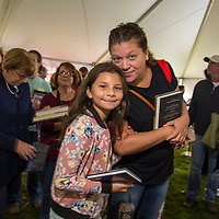 Patrons wait on line to have Alice Hoffman sign their books at the 2017 Morristown Festival of Books, Morristown, NJ, 10/14/17.