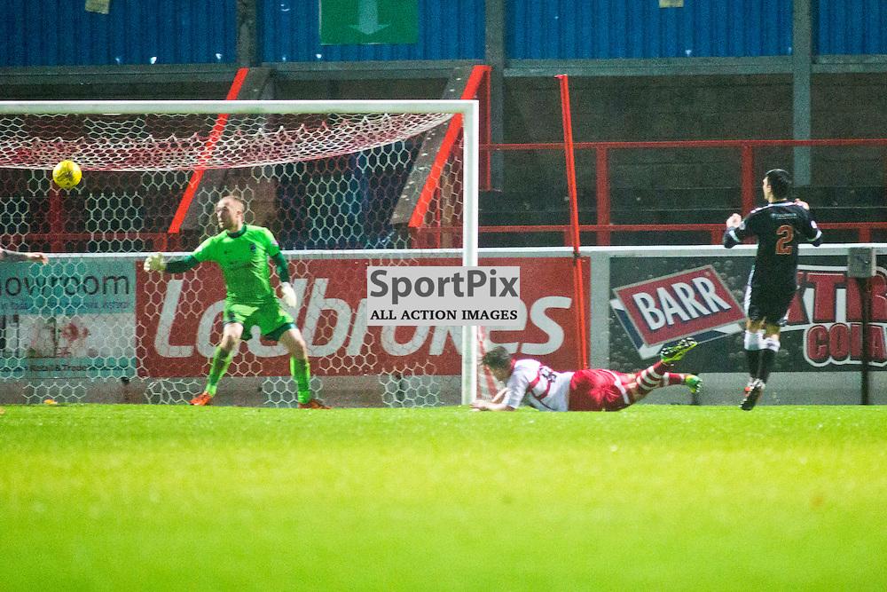 a goal in the Stirling Albion v Elgin City Forthbank 05 December 2015<br /> <br /> (c) Russell G Sneddon / SportPix.org.uk