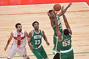 DESCRIZIONE : Milano NBA Global Games EA7 Olimpia Milano - Boston Celtics<br /> GIOCATORE : Jordan Mickey  Perry Jones<br /> CATEGORIA : Rimbalzo<br /> SQUADRA :  Boston Celtics<br /> EVENTO : NBA Global Games 2016 <br /> GARA : NBA Global Games EA7 Olimpia Milano - Boston Celtics<br /> DATA : 06/10/2015 <br /> SPORT : Pallacanestro <br /> AUTORE : Agenzia Ciamillo-Castoria/IvanMancini<br /> Galleria : NBA Global Games 2016 Fotonotizia : NBA Global Games EA7 Olimpia Milano - Boston Celtics