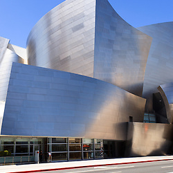 Photo of Walt Disney Concert Hall in downtown Los Angeles California.