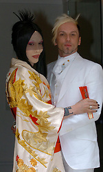 Pete Burns and Michael Simpson at their civil partnership ceremony at the Royal Society of Arts, London today.