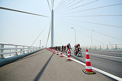 Nina Kessler (NED) charges to the GPM point to defend the climber's jersey at Tour of Chongming Island 2019 - Stage 2, a 126.6 km road race from Changxing Island to Chongming Island, China on May 10, 2019. Photo by Sean Robinson/velofocus.com