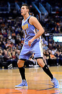 Jan 28, 2017; Phoenix, AZ, USA; Denver Nuggets forward Danilo Gallinari (8) watches the ball against the Phoenix Suns in the second half of the NBA game at Talking Stick Resort Arena. The Nuggets won 123-112. Mandatory Credit: Jennifer Stewart-USA TODAY Sports