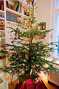 Home Decorated for Christmas. Photographed in Berlin Germany