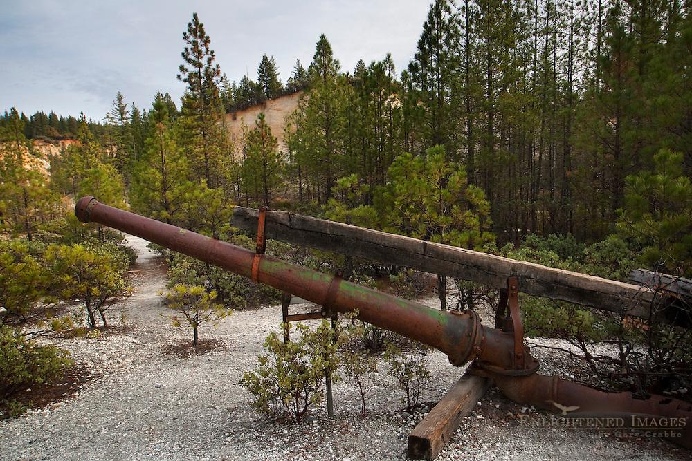 Hydrolic mining water monitor at Malakoff Diggins State Historic Park, California