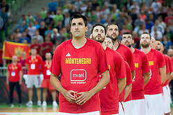 Players of Montenegro during basketball match between Slovenia and Montenegro in Round #6 of FIBA Basketball World Cup 2019 European Qualifiers, on July 1, 2018 in Arena Stozice, Ljubljana, Slovenia. Photo by Urban Urbanc / Sportida
