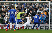 Goal scored by Cardiff City midfielder Callum Paterson (18) during the EFL Sky Bet Championship match between Leeds United and Cardiff City at Elland Road, Leeds, England on 3 February 2018. Picture by Paul Thompson.