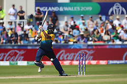 June 28, 2019 - Chester Le Street, County Durham, United Kingdom - Thisara Perera of Sri Lanka batting during the ICC Cricket World Cup 2019 match between Sri Lanka and South Africa at Emirates Riverside, Chester le Street on Friday 28th June 2019. (Credit Image: © Mi News/NurPhoto via ZUMA Press)