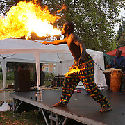 London, UK. 8th October, 2016. The Fireman preforms at The Tottenham Green Multicultural Festival,London,UK. Photo by See Li