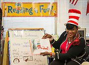 Houston ISD trustee Wanda Adams reads to students during a Read Across America program at Anderson Elementary School, March 2, 2017.