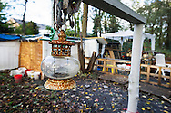 Foto: Gerrit de Heus. Hoofddorp 17-11-2014. Dakloze in het bos.