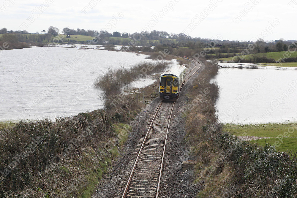 27/3/2008 The Limerick to Ennis commuter train re commenced its schedule this Thursday after the line had been closed for weeks due to flooding.<br />