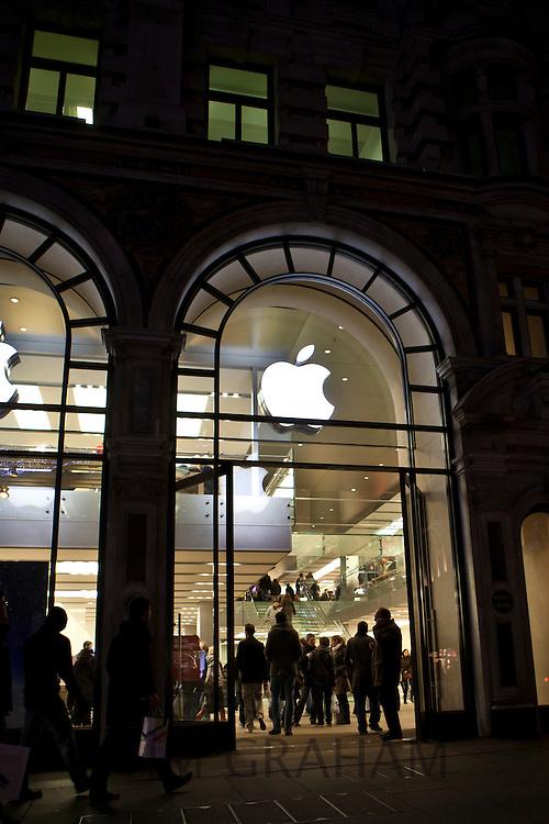 The Apple store in Regent's Street, London, UK
