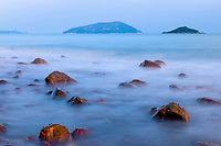Tong Kong beach, Lantau Island, Hong Kong, China. 塘福海滩,大屿山,中国香港。
