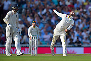 Nathan Lyon of Australia bowling during the 5th International Test Match 2019 match between England and Australia at the Oval, London, United Kingdom on 14 September 2019.