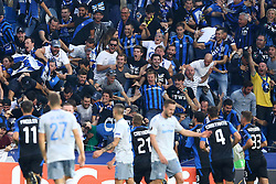 September 14, 2017 - Reggio Emilia, Italy - Atalanta supporters celebration after the goal of 1-0  during the UEFA Europa League Group E football match Atalanta vs Everton at The Stadio Città del Tricolore in Reggio Emilia on September 14, 2017. (Credit Image: © Matteo Ciambelli/NurPhoto via ZUMA Press)