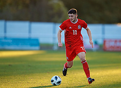 BANGOR, WALES - Saturday, November 17, 2018: Wales' Joseph Adams during the UEFA Under-19 Championship 2019 Qualifying Group 4 match between Sweden and Wales at the Nantporth Stadium. (Pic by Paul Greenwood/Propaganda)