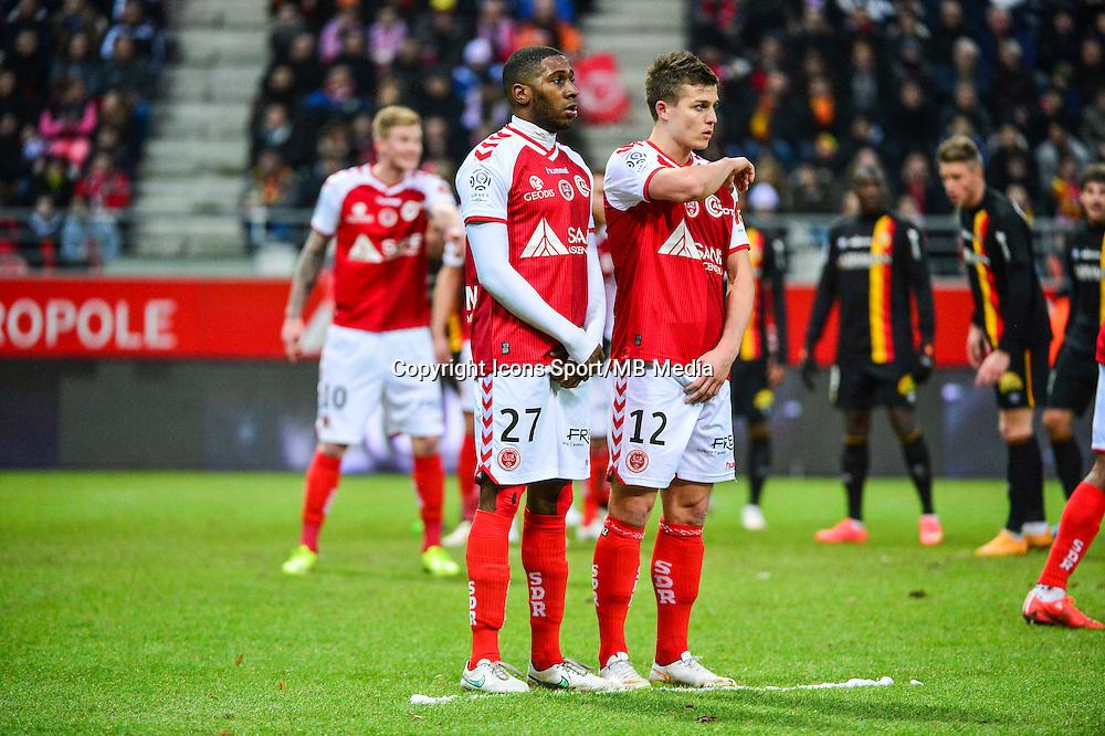 Christopher GLOMBARD / Nicolas DE PREVILLE - 25.01.2015 - Reims / Lens  - 22eme journee de Ligue1<br /> Photo : Dave Winter / Icon Sport *** Local Caption ***