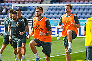 Leeds United midfielder Mateusz Klich (43) warming up during the EFL Sky Bet Championship match between Wigan Athletic and Leeds United at the DW Stadium, Wigan, England on 17 August 2019.